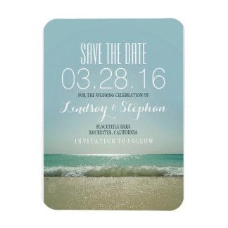 Reserva moderna del boda de playa la fecha iman flexible