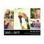 Reserva moderna del collage la postal de la fecha