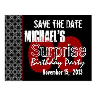 Reserva moderna el fiesta de sorpresa del año de tarjetas postales