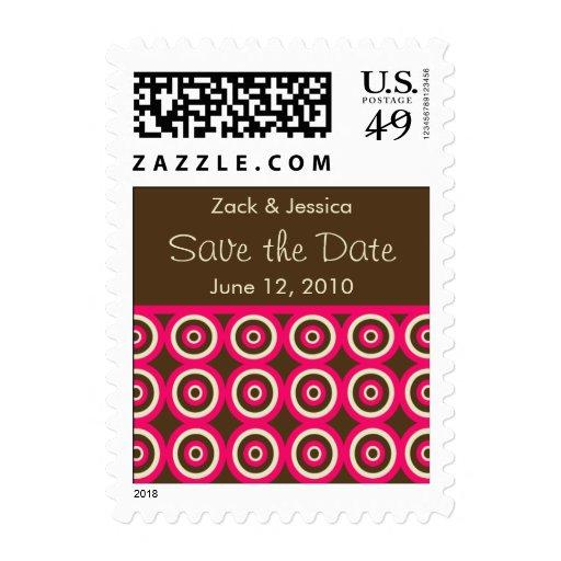 Reserva moderna el franqueo de la fecha - rosa y B