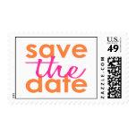 Reserva moderna el sello de fecha