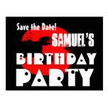 Reserva moderna la 3ro fiesta de cumpleaños de la tarjeta postal