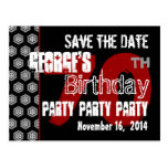 Reserva moderna la 70.a fiesta de cumpleaños de la tarjetas postales