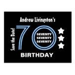 Reserva moderna la 70.a fiesta de cumpleaños de la postal