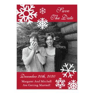 """Reserva múltiple de la foto de los copos de nieve invitación 5"""" x 7"""""""