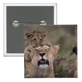 Reserva nacional 6 de Mara del Masai Pin Cuadrado