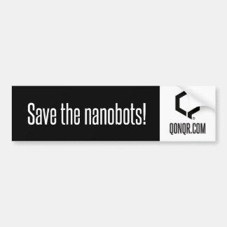 Reserva Nanobots de Q Pegatina De Parachoque