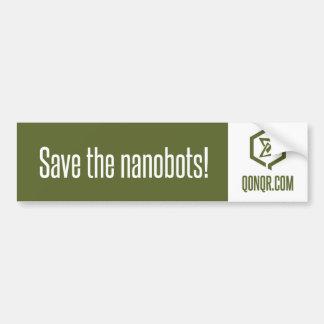 Reserva Nanobots del enjambre Etiqueta De Parachoque