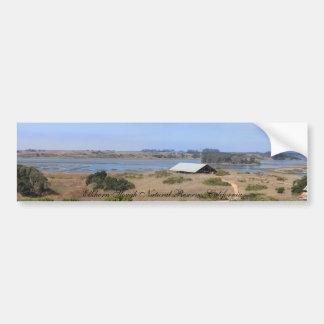 Reserva natural de Elkhorn Slough panorámica Etiqueta De Parachoque