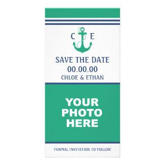 Reserva náutica de la foto la fecha tarjetas con fotos personalizadas