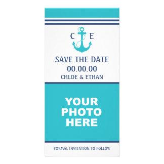 Reserva náutica de la foto la fecha tarjetas personales