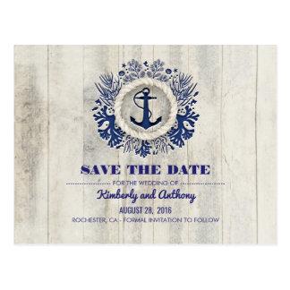 Reserva náutica de la playa de la marina de guerra tarjetas postales
