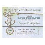 Reserva náutica del documento de embarque el bolet tarjeta postal