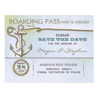 Reserva náutica del documento de embarque el postales
