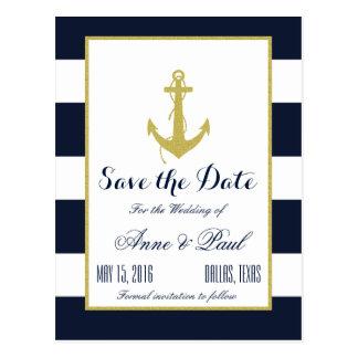 Reserva náutica del oro la fecha postales