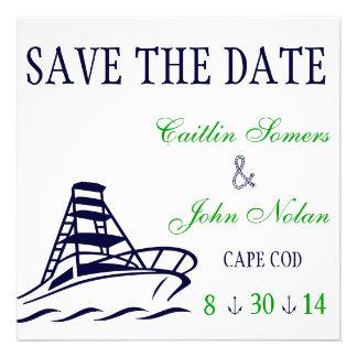 Reserva náutica el boda de la fecha invitacion personal