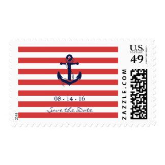 Reserva náutica el franqueo de la fecha timbres postales
