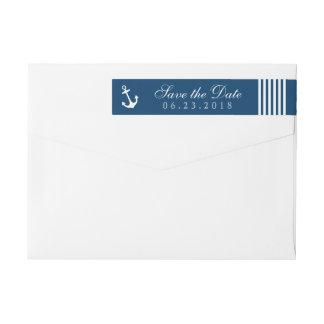Reserva náutica el remite de la marina de guerra etiquetas postales