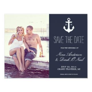 Reserva náutica la fecha el | que se casa invitacion personal