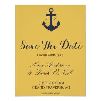 Reserva náutica la fecha el | que se casa invitacion personalizada