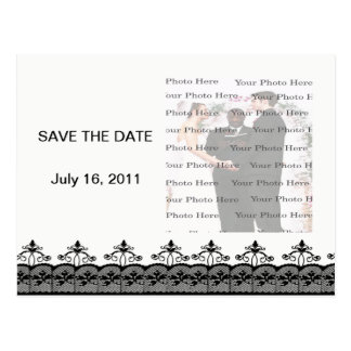 Reserva negra del cordón la postal de la fecha