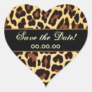 Reserva negra del leopardo del oro la fecha etiquetas