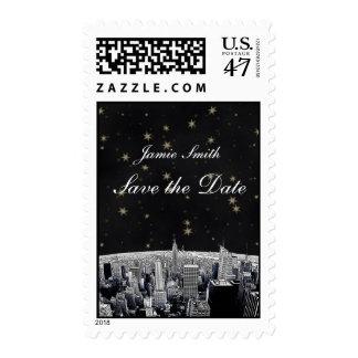 Reserva negra grabada al agua fuerte de la timbres postales