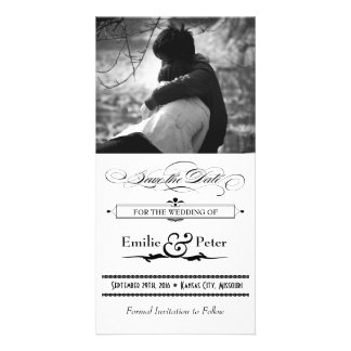 Reserva negra y blanca del estilo del poster la fe tarjetas personales con fotos