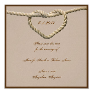 Reserva occidental del boda del nudo de amor del comunicado
