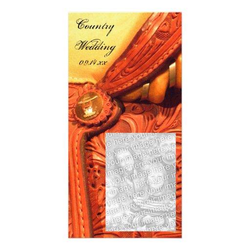 Reserva occidental del boda del país de la silla d plantilla para tarjeta de foto