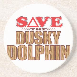 Reserva oscura del delfín posavasos de arenisca