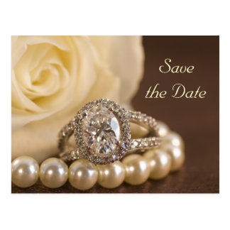Reserva oval del boda del anillo de diamante la po tarjetas postales