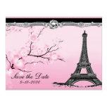 Reserva parisiense del boda de la torre Eiffel las Postales