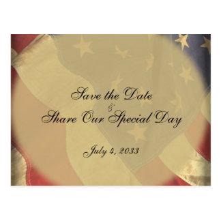 Reserva patriótica de la bandera americana la tarjeta postal