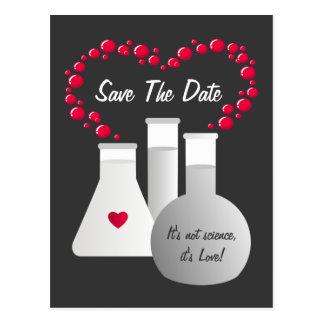 Reserva perfecta de la química la fecha tarjeta postal