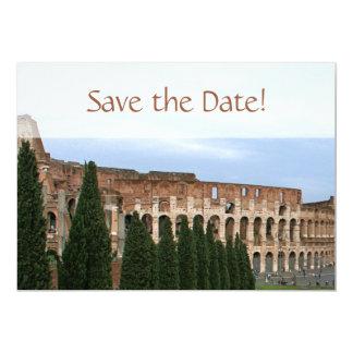 """Reserva personalizada de Colosseum Roma Italia la Invitación 5"""" X 7"""""""