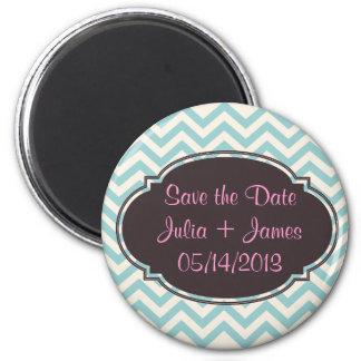 Reserva personalizada los imanes de la fecha imán redondo 5 cm