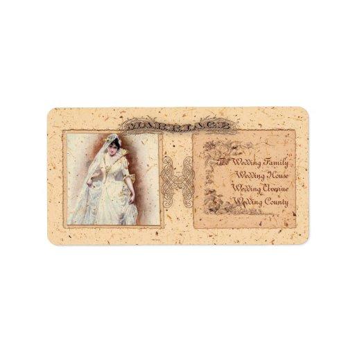 Reserva poner crema de Victoriana la fecha Etiqueta De Dirección
