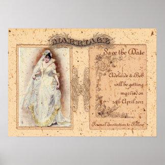 Reserva poner crema de Victoriana la fecha Póster