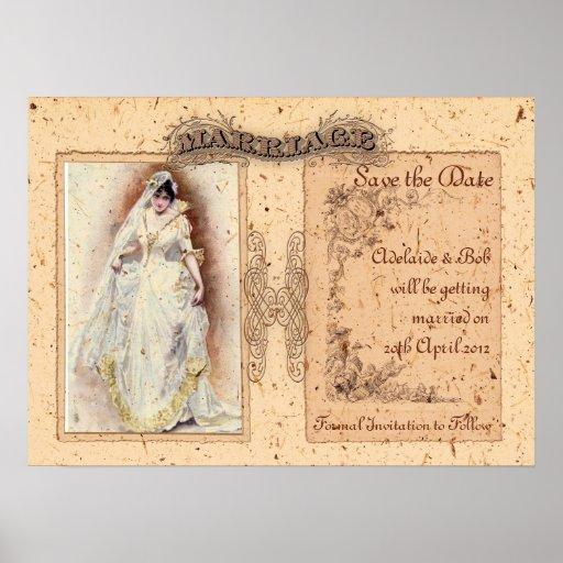 Reserva poner crema de Victoriana la fecha Poster