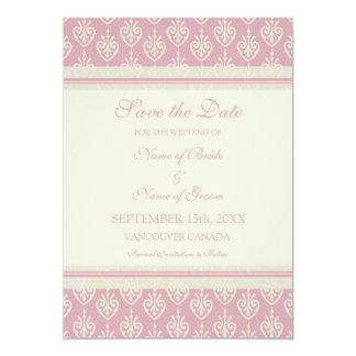 Reserva poner crema rosada del boda de la foto la invitación 12,7 x 17,8 cm