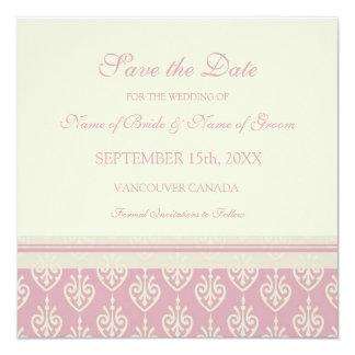 Reserva poner crema rosada del boda la tarjeta de invitación 13,3 cm x 13,3cm