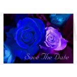 Reserva púrpura azul del rosa la fecha