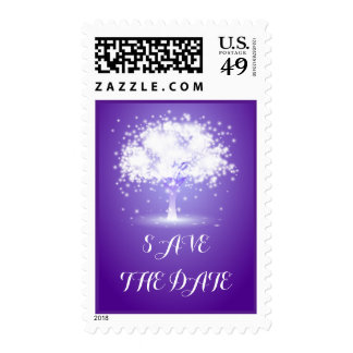Reserva púrpura chispeante del boda de las luces sellos