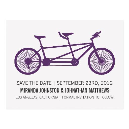 Reserva púrpura de la bicicleta las postales de la