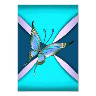 "Reserva púrpura de RSVP de la mariposa del trullo Invitación 3.5"" X 5"""