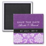 Reserva púrpura del damasco el imán de la fecha