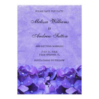 Reserva púrpura del Hydrangea la invitación de la