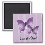Reserva púrpura del imán de la mariposa la fecha