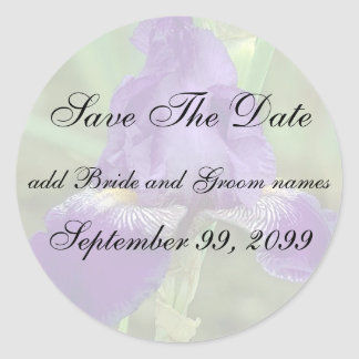Reserva púrpura del iris los pegatinas del pegatina redonda
